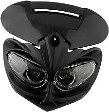 MagiDeal 12V Black Headlight Head Light Lamp Fairing for Motorcycle Streetfighter