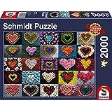 Schmidt Spiele Puzzle 58327 Herzen für Madalene, 2000 Teile