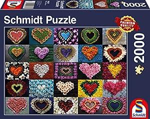 Schmidt Spiele Puzzle 58327Corazones para Mada Lene, Rompecabezas, 2000Piezas