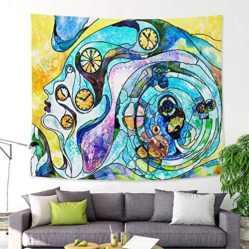mmzki Ölgemälde-Artgewebetapisserie-Badetuch GT-CX018 150x130 der abstrakten Kunst (Geburtstag Hochstuhl Abdeckung)