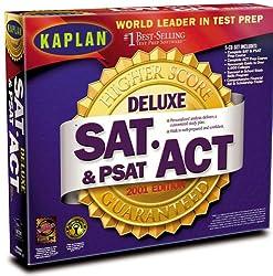 Kaplan Higher Score SAT, ACT & PSAT Deluxe 2001 Editon