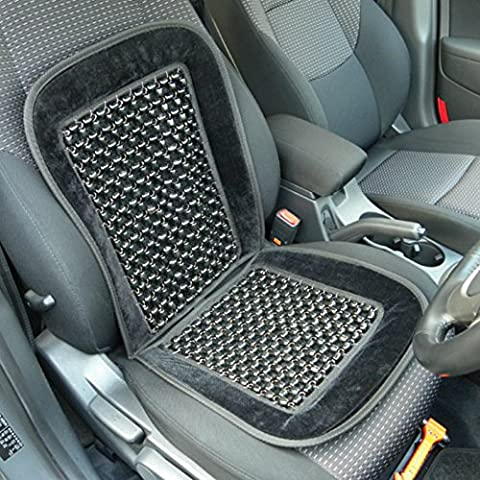 Xtremeauto®, con perline, colore: nero, driver Comfort cuscino coprisedile