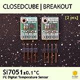 closedcube si7051± 0,1°C Digital I2C Breakout con sensor de temperatura (2pcs)