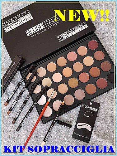 blush kit italien sourcils palette ombre à paupières nu brosse à pochoir