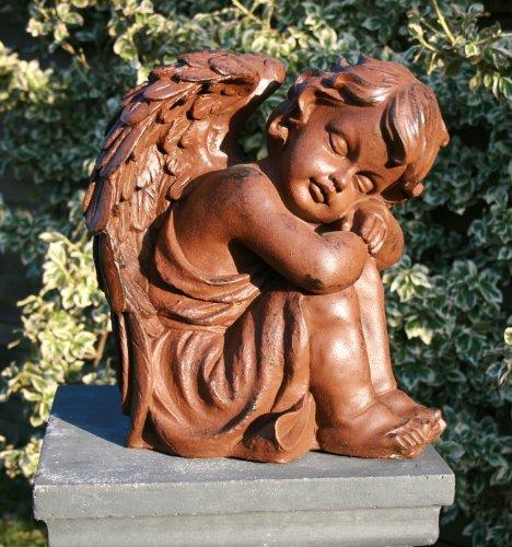 "floristikvergleich.de Dekofigur Engeljunge ""Rubiel"" Engel Dekoration Engelfigur rostoptik Gartendeko"