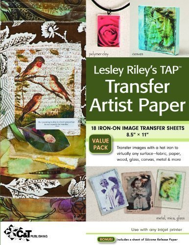 Lesley Riley's Tap Transfer Artist Paper 18-Sheet Pack: 18 Iron-On Image Transfer Sheets 8.5 X 11 of Riley, Lesley on 16 September 2010