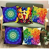LilyPin™ Presents Collection Of 24 Pillow Covers Size 16 X 16 (COLOURFUL)