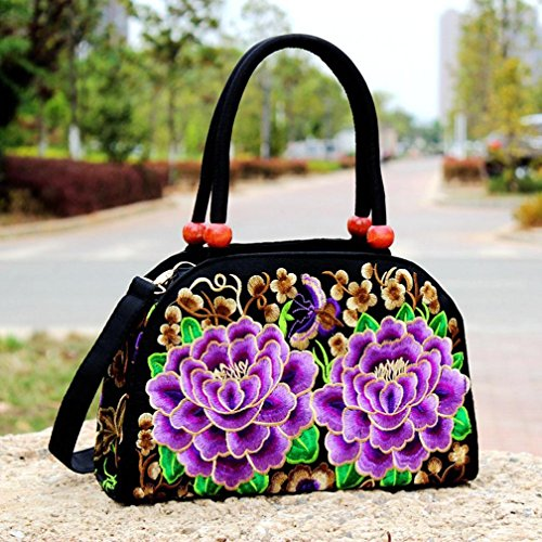 nd Messenger Beutel, bestickt Handtaschen Travel National Tasche, 3 (Tiffany Schal)