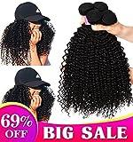 8A brésilien cheveux crepus 3 faisceaux cheveux humain bouclé 100% nontraité tissage bresilien boucle 300g tissage bouclé naturel 30 35 40cm tissage cheveux humain