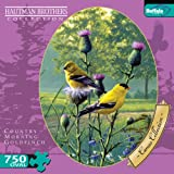 Buffalo Games Oval Cameo: Hautman - Goldfinches