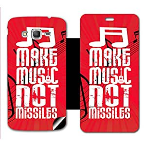 Skintice Designer Flip Cover with a hi-res printed Vinyl Wrap-around for Samsung Galaxy Grand Prime, Design - Make Music