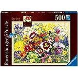 Jigsaw - Printemps Le Cottage Garden 500 Piece - RB14658 -. Ravensburger
