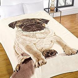 Dreamscene-grandes caliente suave perro carlino sofá cama manta de piel de visón sintética-200x 240cm