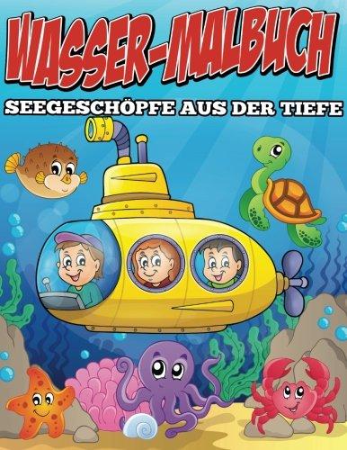 Wasser-Malbuch  Seegeschöpfe aus der Tiefe