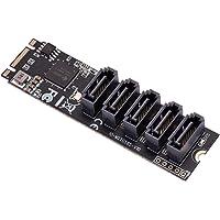 IOCREST M.2(M2 PCIe3.0) to 5 Port SATA 6G Adapter IO-M2F585-5I