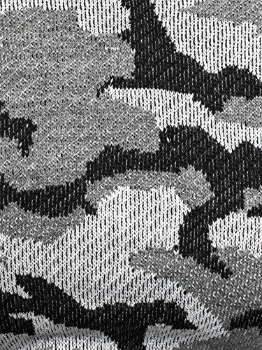 OZONEE Herren Strickjacke Pullover Strickpullover Sweats Strick BLACK ROCK 18027 Schwarz-Grau_BR-18031