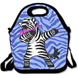 Funny Dabbing Zebra Funny Hip Hop Zebra Waterproof Lunch Tote Bag Insulated Reusable Picnic Lunch Boxes For Men Women Kids