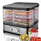 Dehydrator & Food Dryer with Temperature Controller 35-70°C, Fruit-Meat Dryer 5 Tier Food