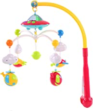 Kiditos Baby Bed Bell Musical Cot Mobile Crib Bell Dreamful Bed Ring Hanging Rotate Bell Rattle with 108 Beautiful Music for 0 to 12 Months Baby