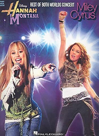 Hannah Montana - Miley Cyrus : The Best of both Worlds Concert songbook piano/vocal/guitar mit Bleistift -- enthält 14 Songs arrangiert für Klavier, Gesang und Gitarre - Noten/sheet music