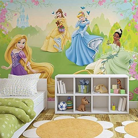 Disney Princesses Rapunzel Tiana Belle - Photo Wallpaper - Wall Mural - Giant Wall Poster - XXL - 368cm x 254cm - Standard Paper (NOT EasyInstall) - 4