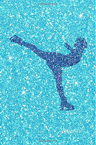 Journal: Blue Purple Figure Skater Turquoise Faux Glitter Lined Paper Dairy Notebook | Gift for Adults and Kids por MSquared Glitter Designs