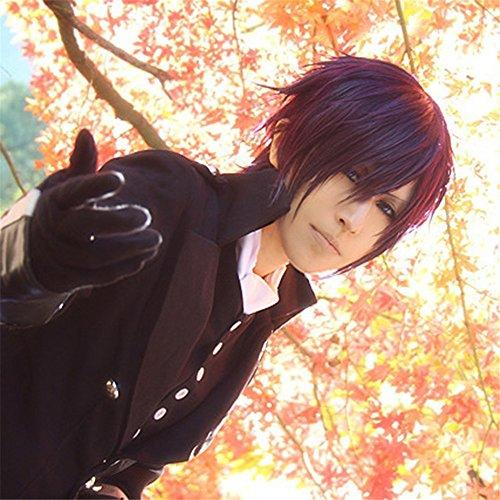 sugi Shinsuke Dark Purple Short Styled Woman Cosplay Party Fashion Anime Wig (Womens Dark Lady Kostüme)