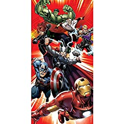 Marvel Avengers 140 x 70 cm Carácter La Playa y Toalla de baño