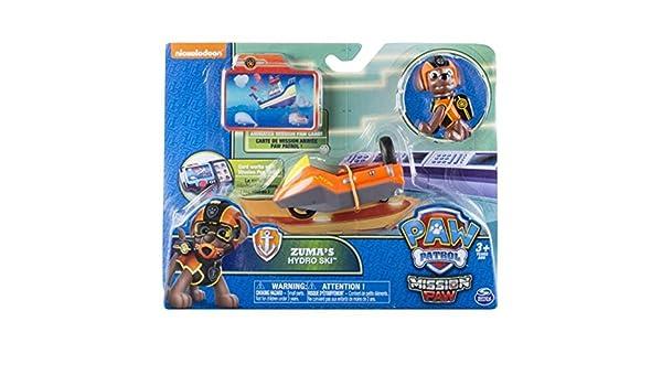 511e5effcf27e Pat Patrouille Zuma s hydro ski - Petit véhicule + carte mission   Amazon.fr  Jeux et Jouets