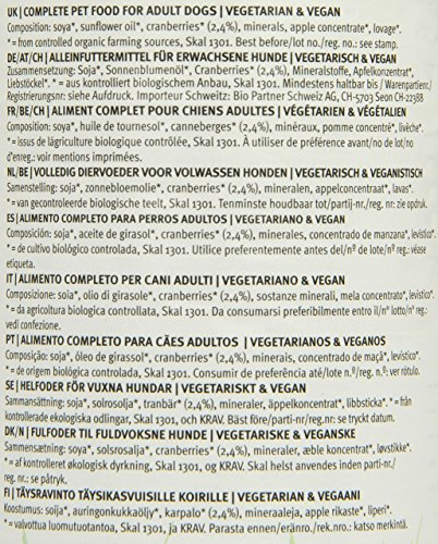 YARRAH Bio Hundefutter Vega, Getreidefrei mit Cranberries 380 g, 12er Pack (12 x 380 g) - 2