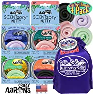 Crazy Aaron's Thinking Putty Aromatherapy SCENTSory Tins Gift Set Bundle Featuring Calm Presence, Positive
