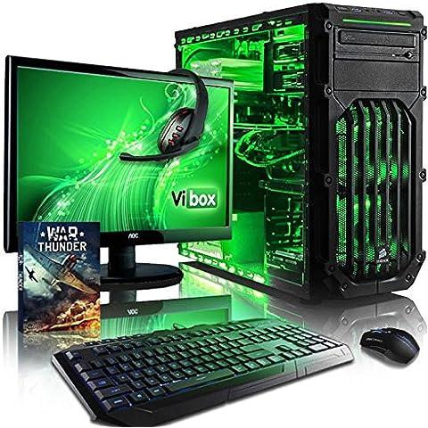 Vibox Centre Pacchetto 4W Gaming PC con Gioco War Thunder, 21.5