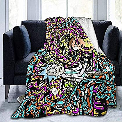 venty Rick & Morty Soft Warm Blanket, Super Soft Micro-Velvet Blanket, Super Soft Hypoallergenic Plush Bed Sofa Sala de Estar