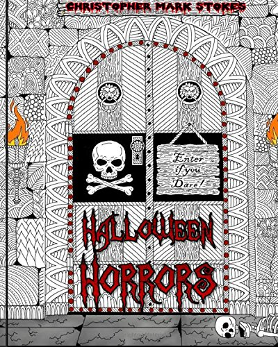 dult Colouring Book: A Colourful Spooky Adventure: Stress Relieving Halloween Colouring Book ()