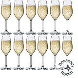 Collezione DIVINO Bormioli Rocco - Set 12 Flute da Champagne & Prosecco - MOD. Flute DIVINO 24 - capacità: cl. 24 Eleganza a