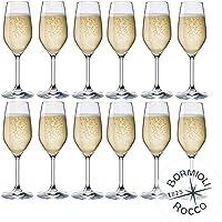 Collezione DIVINO Bormioli Rocco - Lot de 12 Flûtes de Champagne & Prosecco - mod. Flute Divino 24 - Capacité : 24 cl…