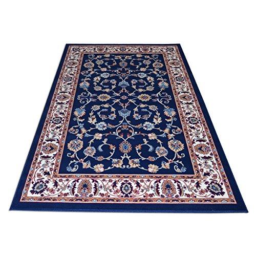WEBALFOMBRAS Alfombra Dibujo Oriental Clasico - Alfombra Barata Estilo Persa Royal Shiraz 2079-BLUE 160x230
