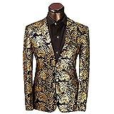Taglio Slim Fit giacca da uomo matrimonio smoking Golden oro XXXL