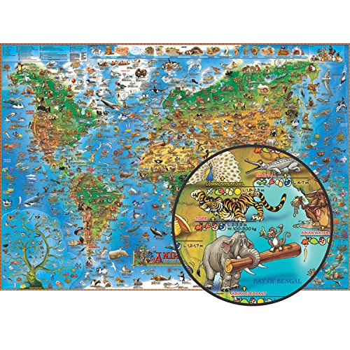 Animals of the World kids flat laminated 2012: DINO.EN.PP.A (Dino Wall Maps for Children)