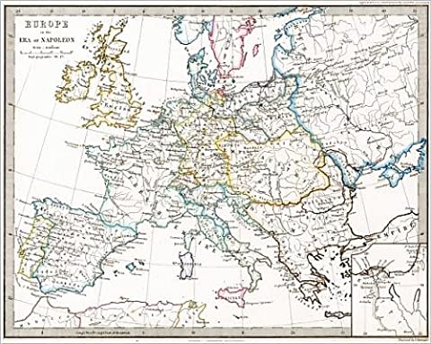 Photographic Print of Map of Europe At the Time of Napoleon