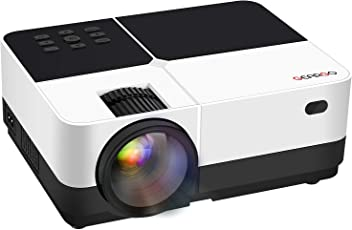 Beamer Projektor, GEARGO Upgraded 2800 Lumen HD Videoprojektor 1080P, Mini Tragbarer Projektor Kompatibel mit Amazon Fire TV Stick / Laptop / Xbox / iPad / iPhone / Android Smartphones für Heimkino