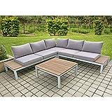 Lounge Set VALENTINA 4tlg Sitzgruppe Sitzgarnitur Gartengarnitur Möbel Garten