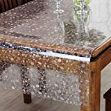 YANLILIU Desktop-Couchtisch Pad wasserdicht Kunststoff PVC transparent rechteckigen weichen Glas Tischdecke, 70*140cm