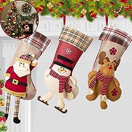Fashion calza di Natale con stampa 3D con oche bianche gialle per calze natalizie decorazione per feste con passante per appendere Borsa da appendere per calza di Natale