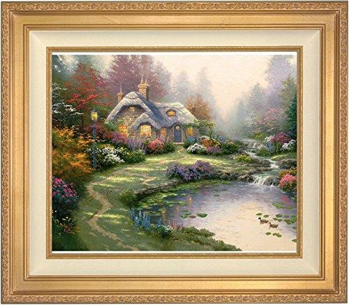 Thomas Kinkade Everett Cottage-50,8x 61cm-internazionale prova (i/p) Limited Edition tela, oro antico cornice