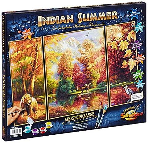 Schipper 609260650 - Malen nach Zahlen - Indian Summer (Triptychon), 50x80 cm