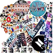 BTS Gifts Set for Army- Stickers   BTS Lomo Cards   BTS Button Pin   BTS Neck Lanyard (5.8cm)