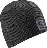 Salomon L36685000 Cappello Unisex, Per sport invernali, Logo Beanie, Nero
