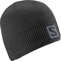 Salomon Bonnet Unisexe avec Logo - Pour les Amateurs de Sports d'Hiver - LOGO BEANIE - Vert clair (Acid Lime)