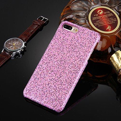 BING Für iPhone 7 Plus Twinkling Paillette Beschichtung harten Schutzhülle BING ( Color : Black ) Purple
